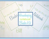 Printables for home organization - etsy shop: Organization, Homekeeping Binder, Notebook Binder, Binder Kit, Homekeeping Notebook, Organize, 5 00