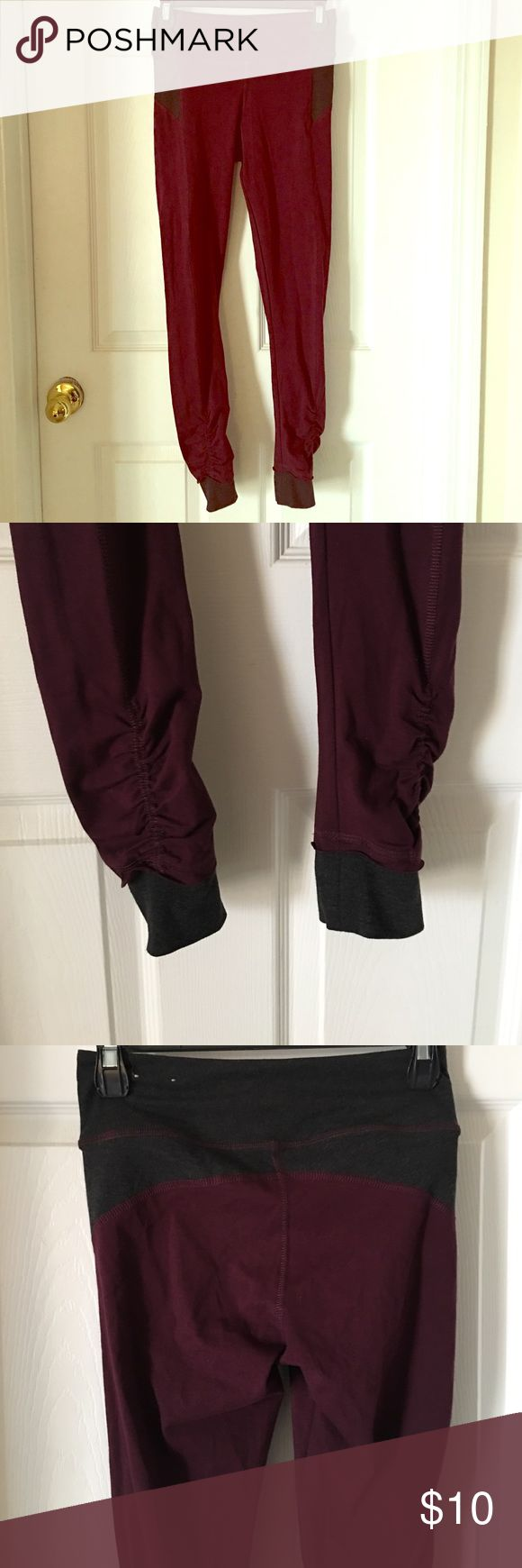 American Eagle maroon and charcoal leggings Size small. Maroon and charcoal leggings. Never worn. American Eagle Outfitters Pants