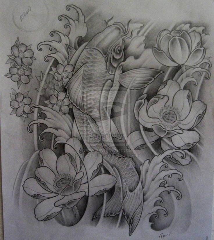 Sketch For A Japanese Sleeve: DeviantART: More Like Koi Hannya Tattoo By ~TeroKiiskinen