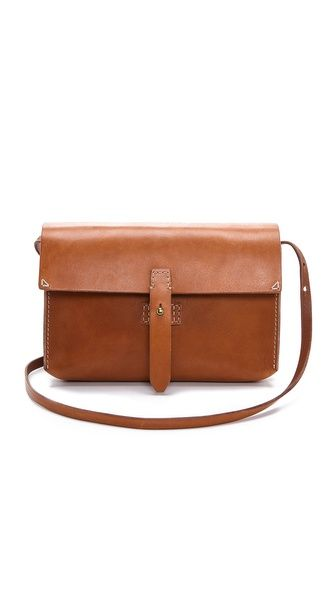 spring essential--sturdy leather side bag from Madewell