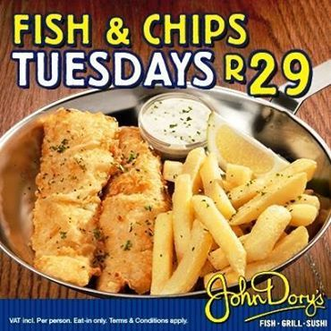 Thinking about lunch? How about popping into John Dory's for their Tuesday special!