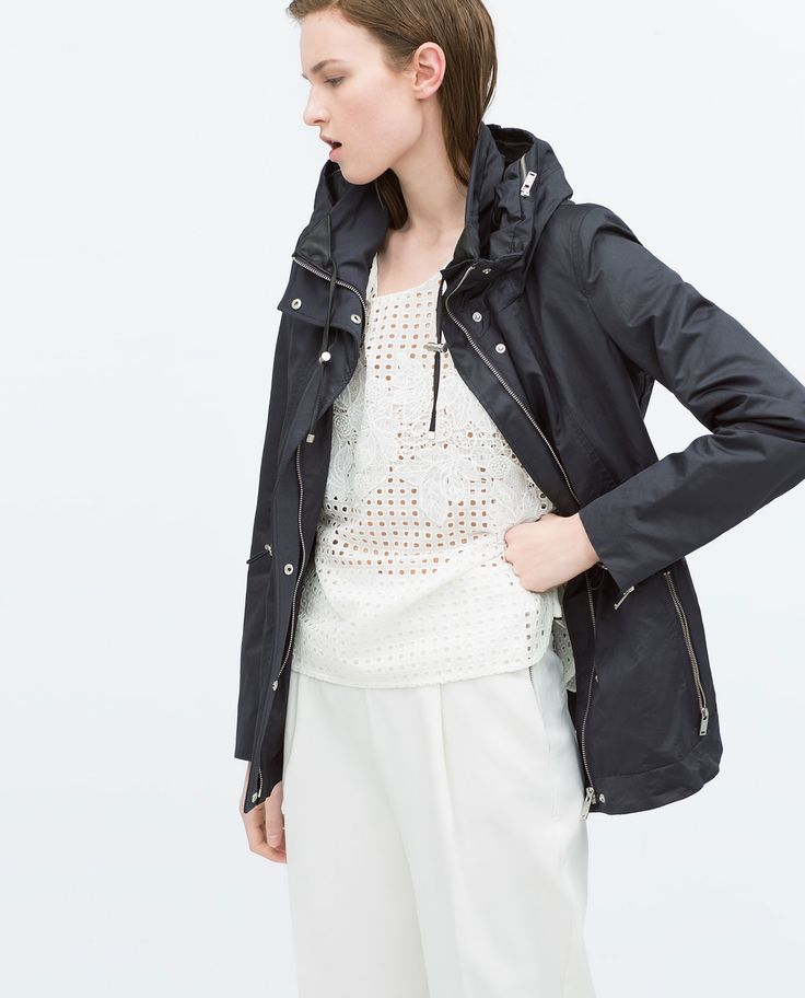 COMBINED KNIT SHORT PARKA-Jackets-Jackets-WOMAN | ZARA United States