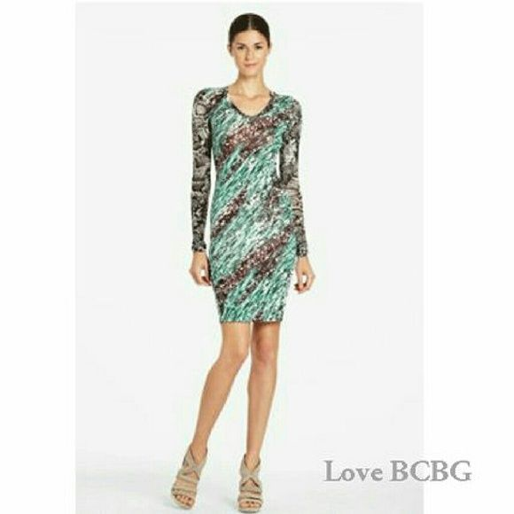 BCBGMAXAZRIA dress Fabulous thin knit dress! Can be worn alone or with layers. Looks chic with belt, leather jacket, or vest! BCBGMaxAzria Dresses Long Sleeve