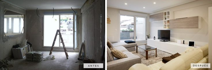 #AntesDespues: Catalina de Erauso | Reforma integral de la vivienda. Sala de estar. #Reforma #Vivienda #Decoracion #SanSebastian