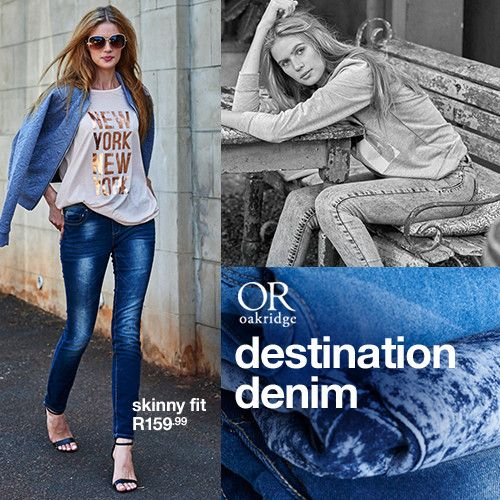 DESTINATION DENIM:  Discover this season's most flattering, fit, must-have washes and styling tips.  Shop this story in-store and online now at MRP.com