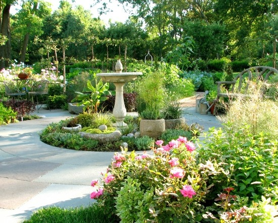 French country garden design pictures remodel decor and for Country garden ideas