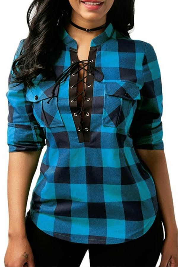 0aeb9c76385 Shopping En Ligne, Office Blouse, Casual Tops, Casual Shirts, Plaid Shirt  Women