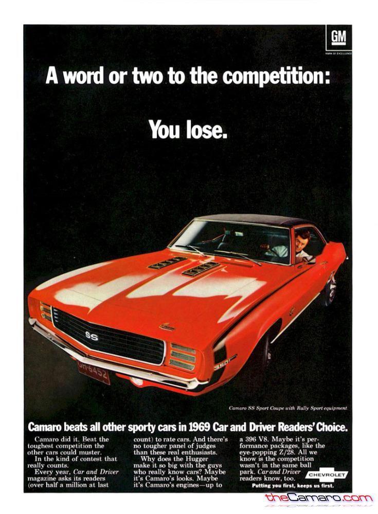69 Camaro SS/RS advertisement