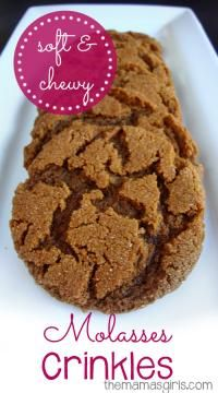 Soft & Chewy Molasses Crinkles are one of our favorite cookies! These are so moist!