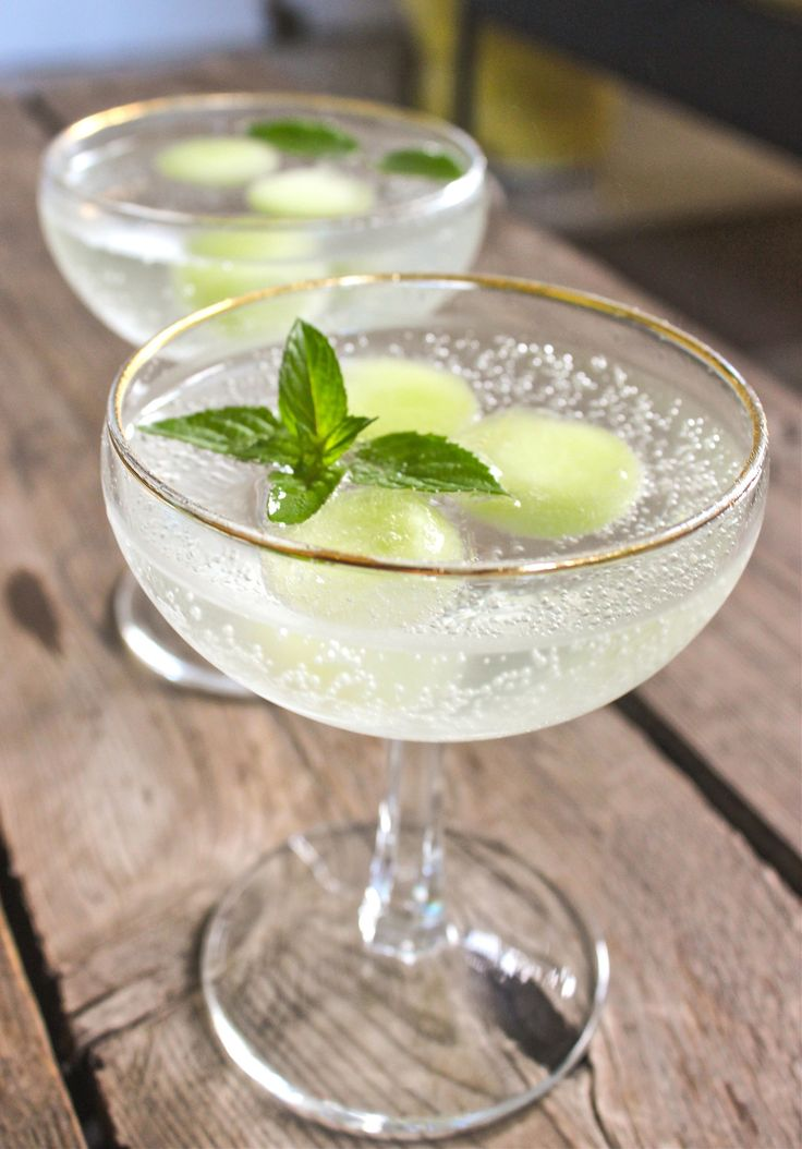 Recipe: Melon, Mint  Prosecco Cocktail — The 10-Minute Happy Hour