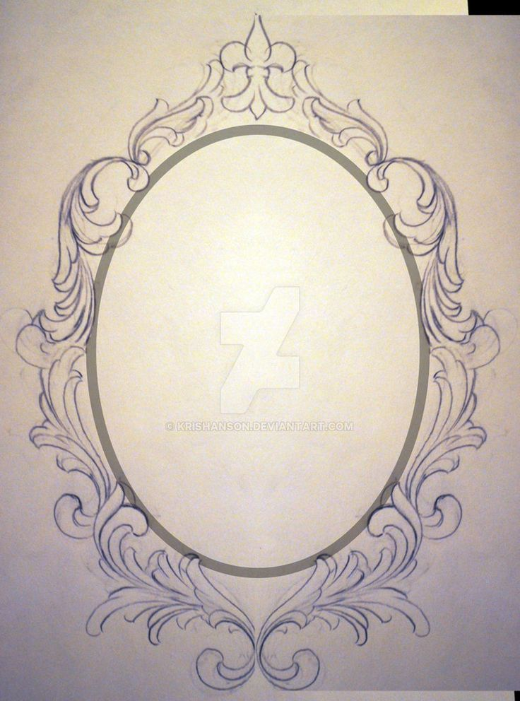 Filigree Frame Request Unfinished by KrisHanson on DeviantArt