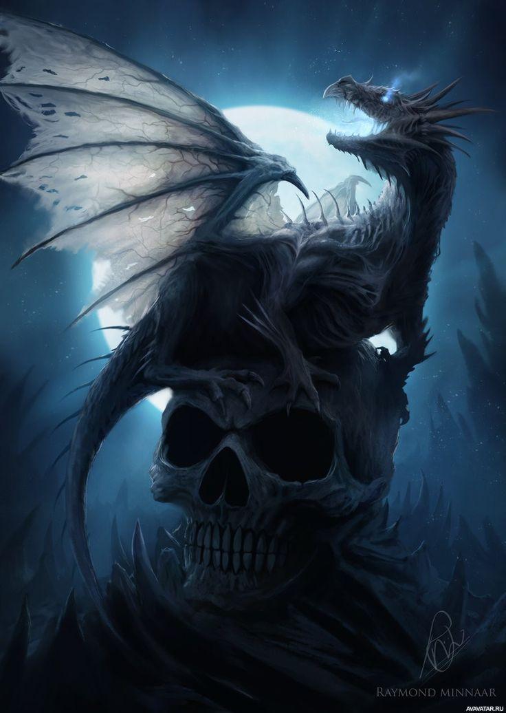 #dragons, #skulls, #Moon, #fantasy, #images, #драконы, #черепа, #Луна, #фэнтези, #картинки https://avavatar.ru/image/5606