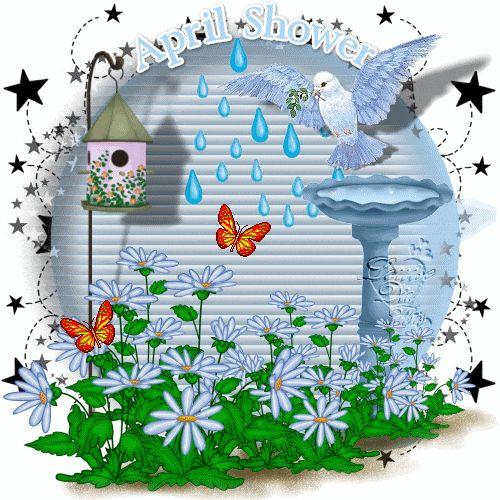 April Shower spring rain flowers animated season april ...