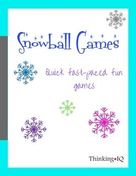 Minute to Win it Style games.  Great for the classroom parties or for family fun.  Snowball games is one of our newest holiday traditions to have an evening of Snowball Games.  Many of these games have also been used for Winter theme holiday classroom parties.