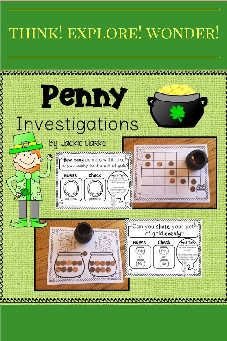 "Looking for St. Patrick's Day ideas or activities? Try these 8 math investigations that begin with a question and invite young learners to use simple Guess and Check boxes to make and test predictions and record outcomes. On each record sheet, children meet a math mascot (Lucky Leprechaun) who asks ""Math Talk"" questions to help them reflect and discuss the outcomes of the investigation."