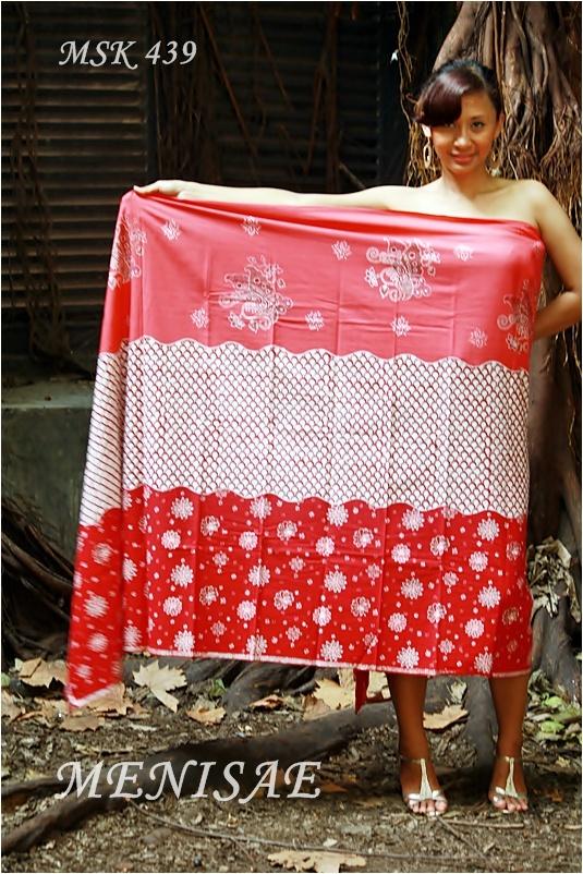 Batik Cirebon/Tulis Kombinasi 115x230 cm/Katun/Merah Rp 195.000,-