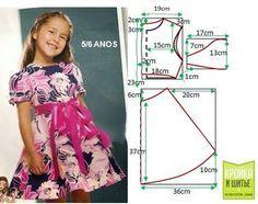 Ideas para el hogar: Molde de vestido de niña para 5 o 6 años