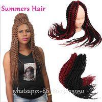 Synthetic Kanekalon Crochet Style Island Twist Braids Natural Look Unraveled Senegalese Twist Hair Jumbo Senegal Twist Braids