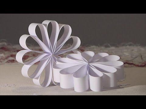 noel deco !! Christmas decoration !! rosace boucle papier diy - YouTube