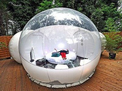 Ball-shaped hotel room by Rudolph Palladino