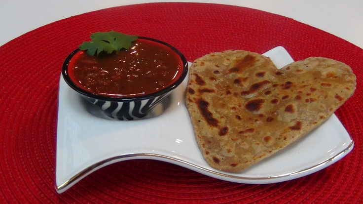 KidneyBeans/Rajma and Indian Flat Bread (Parantha).