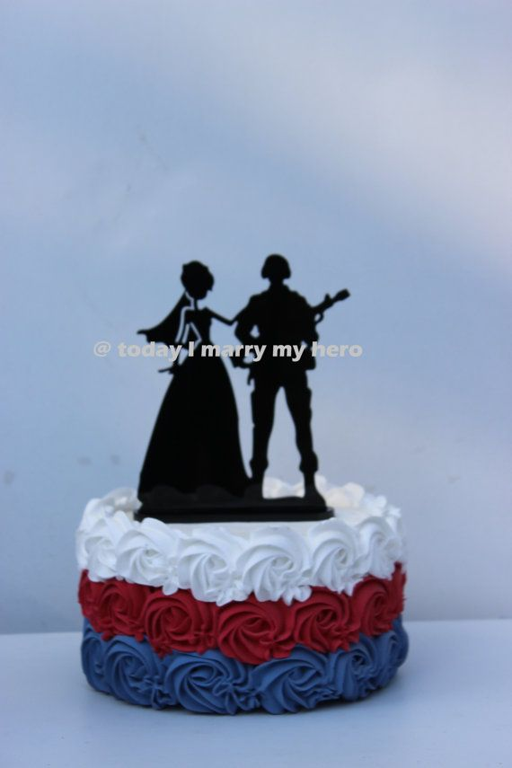 Military Army Soldier  Wedding Cake topper Groom by CarolinaCarla