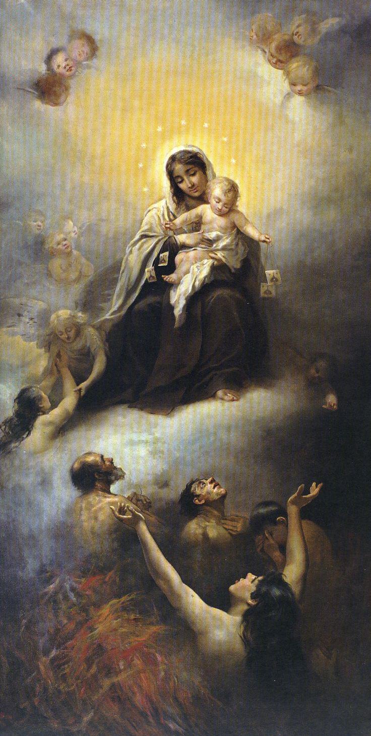 Manuel Wessel de Guimbarda - Virgen del Carmen con las ánimas