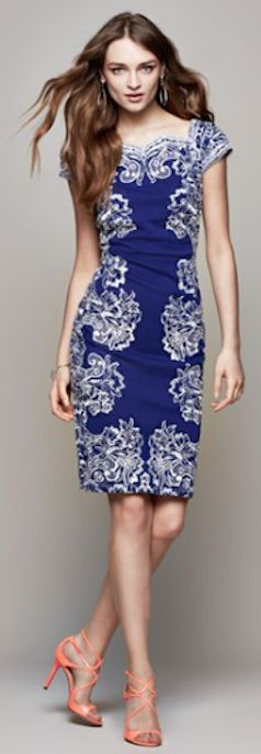 beautiful #blue embroidered sheath dress http://rstyle.me/n/juathr9te