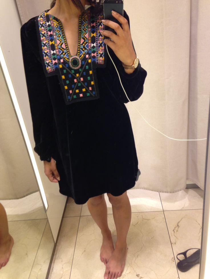 Zara velvet dress ; minimal design