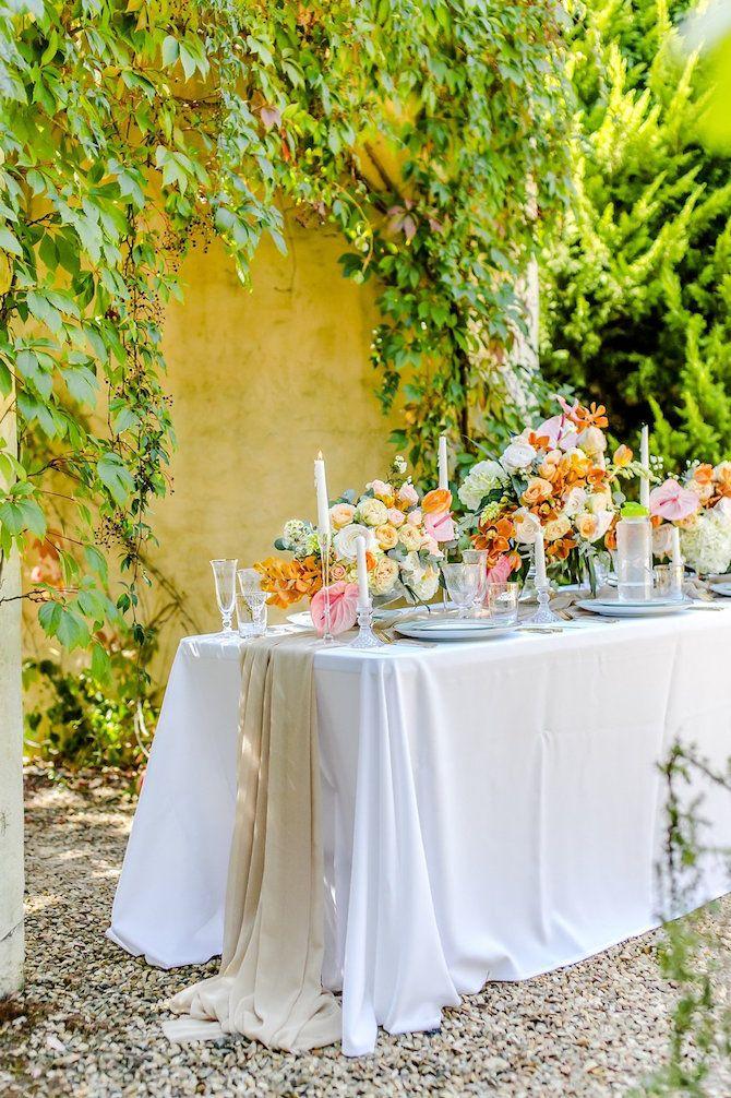 Peach Pink Gold Summer Wedding