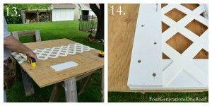 Wie man einen Gitter-Sichtschutz erstellt {DIY-Tutorial}   – back yard