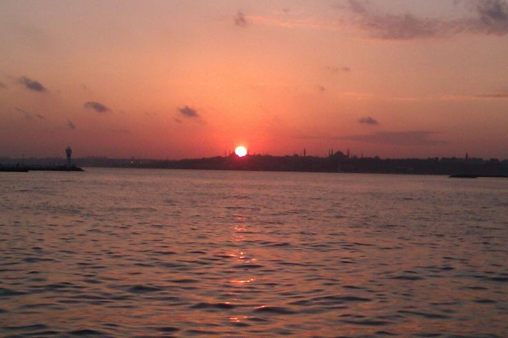 Sunset in Old Istanbul View  from Kadıköy Side