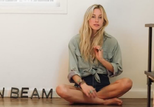 Gillian Zinser (aka 90210's surf babe Ivy Sullivan) at home for Esquire
