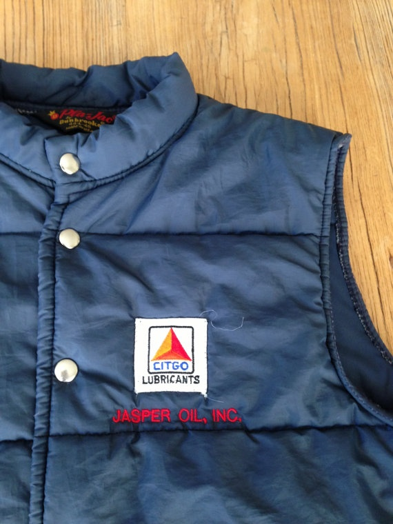 blue citgo station attendant vest size large by work
