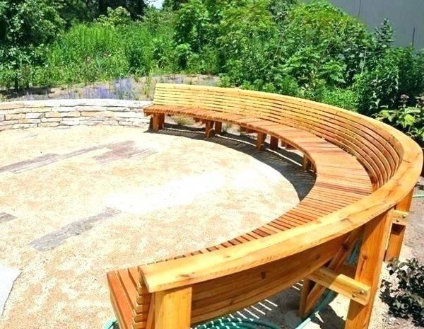 curved patio curved outdoor benches