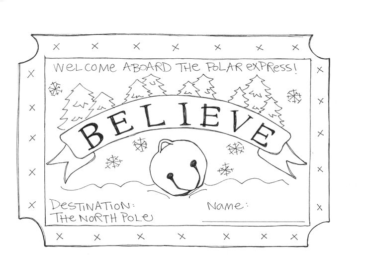 Polar Express Coloring Pages Free Printable polar express coloring ...