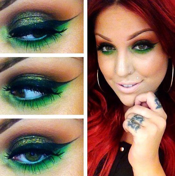 Poison Ivy makeup Halloween