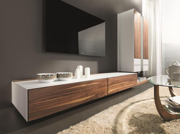 Cubus Pure wood and glass media cabinets