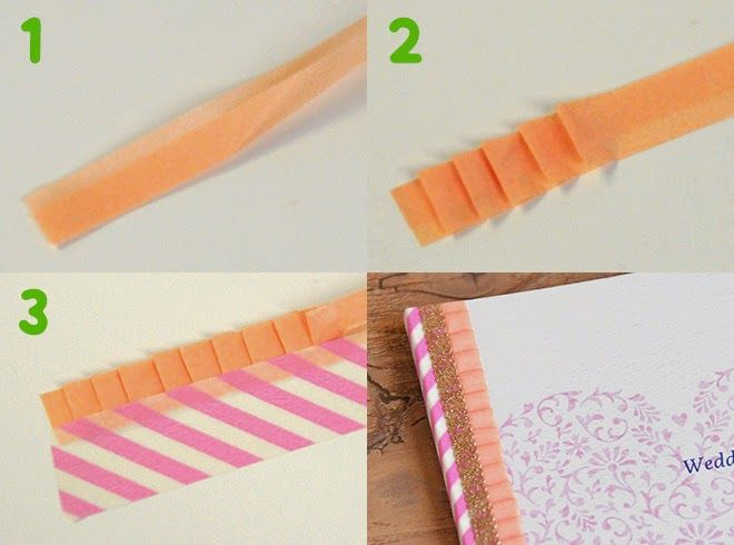 ruffle with washi tape