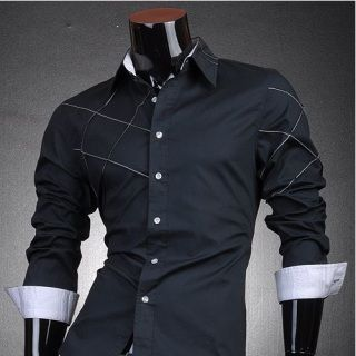 Designer Cross Line Dress Shirt  Gender: Men Item Type: Dress Shirt Material: Cotton Collar: Turn-down Collar Sleeve Length: Full Shirts Type: Dress / Casual  $34.99 New Zealand Dollars Each With Free Worldwide Shipping.
