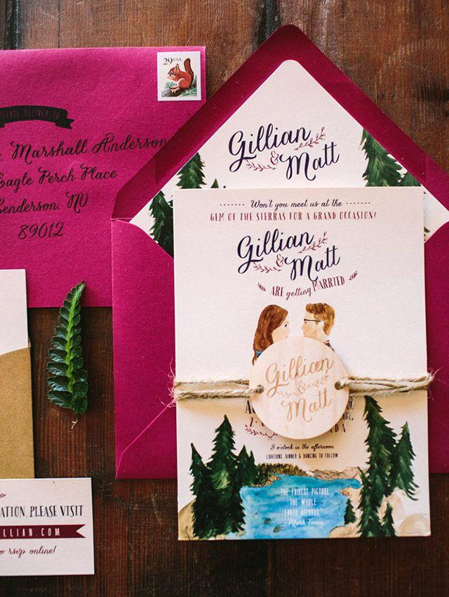 Rustic Woodland Watercolor Wedding Invitations 143 best