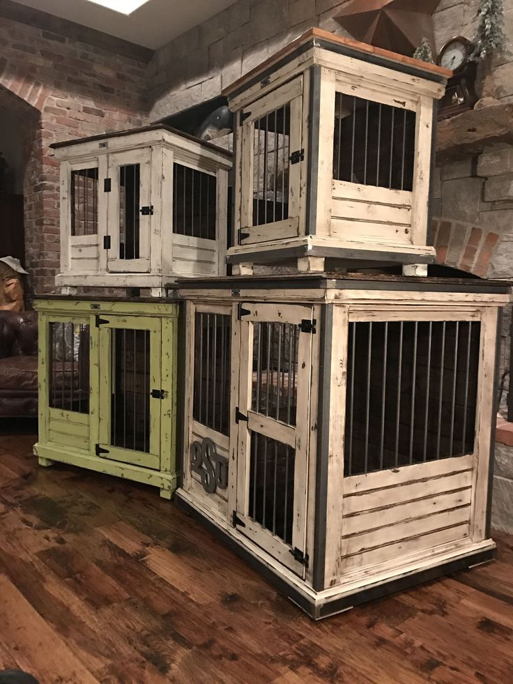 25 best ideas about dog crate furniture on pinterest for Wooden dog pens for inside