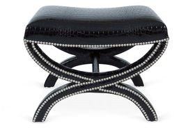 Tabouret  Traditional, Transitional, Upholstery  Fabric, Stool by Bjork Studio