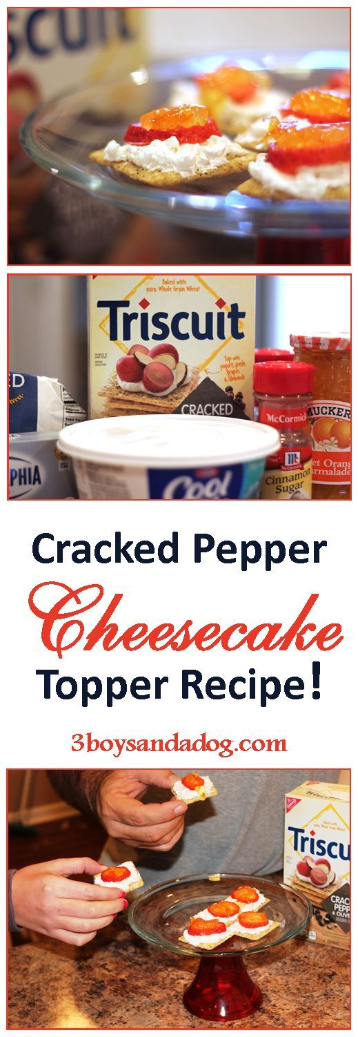 TRISCUIT Cracked Pepper Cheesecake Topper Party Recipe
