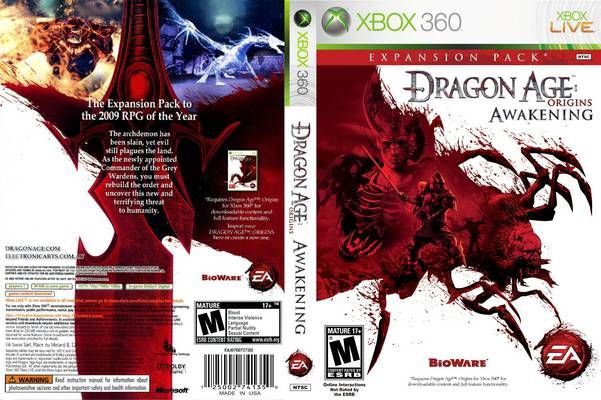 Dragon Age: Origins - Awakening Expansion NTSC Front Xbox 360 Cover