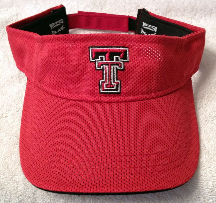 TEXAS TECH RED RAIDERS ADULT ADJUSTABLE VISOR CAP HAT FREE SHIP #BigBrand #TexasTechRedRaiders