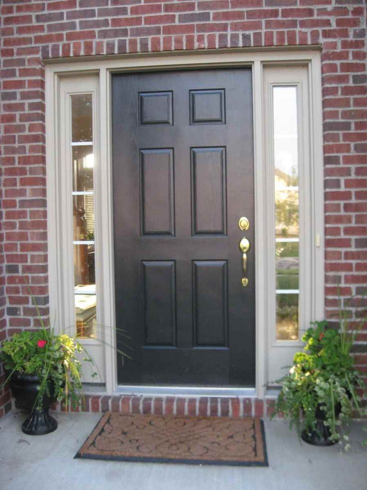 Furniture Design Luxurious Dark Wooden Front Door Color