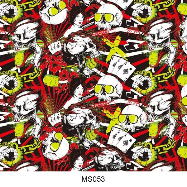 Hydrographics film skull pattern MS053