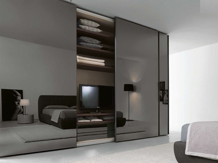 Smoke Glass Sliding Door Wardrobe   Logo, The Stunning Design Aspects Of  This Sliding Door Wardrobe Provide The Ultimate In Sophistication And  Functionality ...