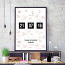 Ihr habt ein wichtiges Datum, das ihr euch an die Wand hängen möchtet, z.B. euer Hochzeitsdatum oder das Datum, an dem ihr euch kennengelernt habt? Dann bietet dieses Poster genau den richtigen...